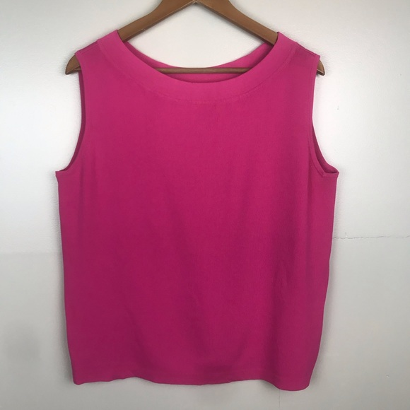 Dress Barn Tops - DRESS BARN Pink Sleeveless Sweater High Neck